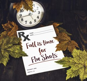 Vaccination against the flu comes with Fall Leaves